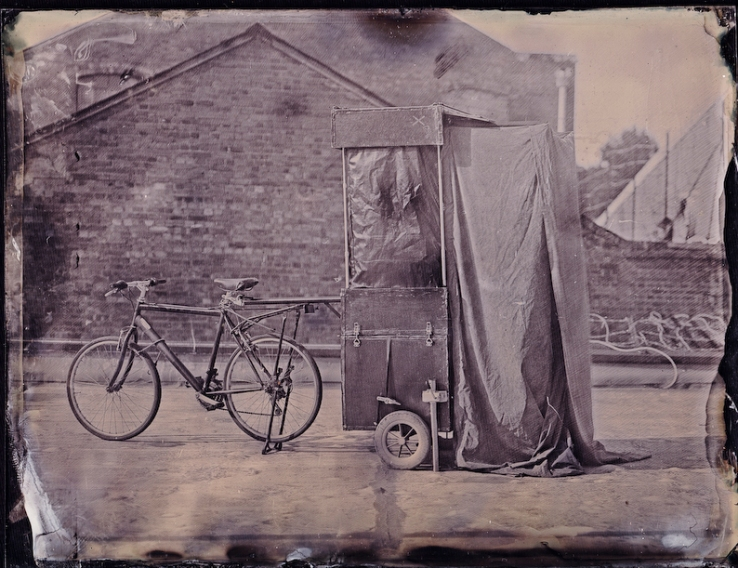 Wet Plate image of Bicycle Trailer Darkbox
