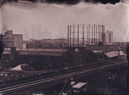 On the roof of Netil House East London looking towards the city.