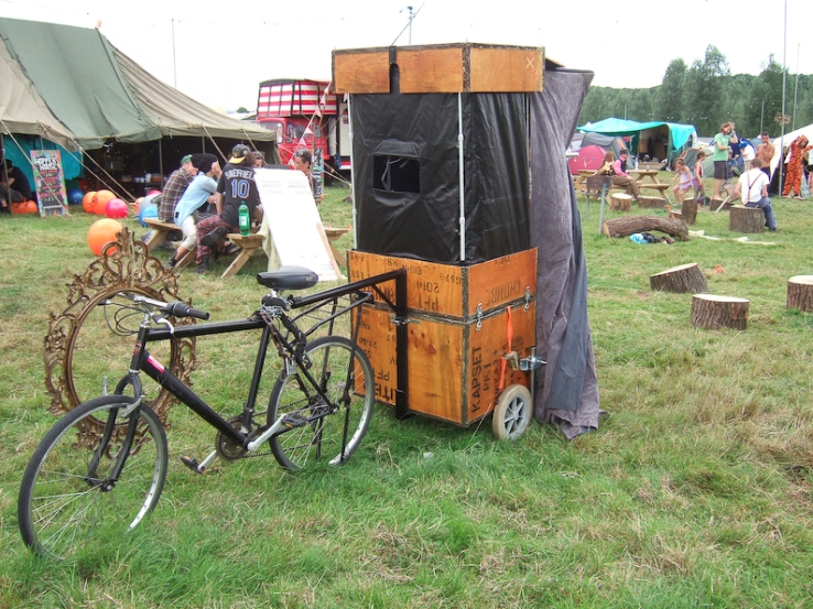 Bike trailer @ Standon Calling festival